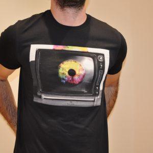 PS PAUL SMITH –  T-SHIRT EYE TV Colore NERO