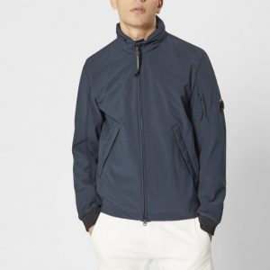 C.P. COMPANY SHELL FULL ZIP JACKET BLU