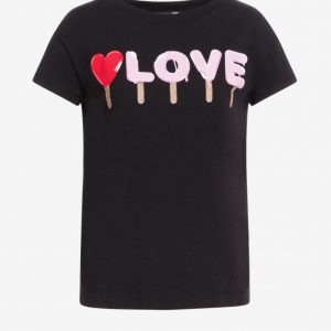 LOVE MOSCHINO – T-SHIRT I LOVE NERO