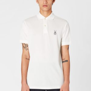 PAUL SMITH – POLO M/M 'Beetle' Embroidery Colore PANNA
