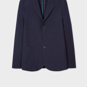 PS PAUL SMITH GIACCA SEERSUCKER Colore BLU