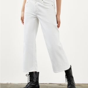 DONDUP DP500 PANTALONE Jeans AVENUE Colore BIANCO