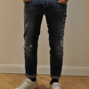 RE-HASH Jeans MUSANTE con STRAPPI Lavaggio Medio Chiaro