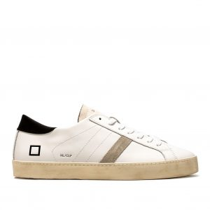 D.A.T.E. Sneakers Bassa Mod. HILL LOW CALF Pelle Colore BIANCO