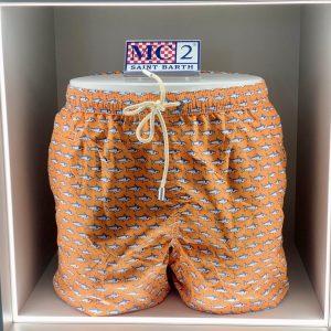 MC2 SAINT BARTH – COSTUME Fantasia CLONED SHARK Colore Arancio