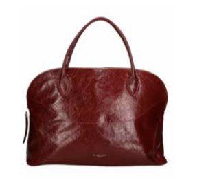 MY BEST BAGS – SHOPPING con ZIP in pelle Lakke colore Borgundy