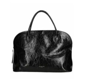 MY BEST BAGS – SHOPPING con ZIP in pelle Lakke colore NERO