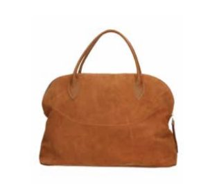 """""""MY BEST BAGS"""" – SHOPPING con ZIP in CAMOSCIO colore Sabbia"""