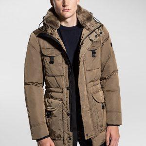 """""""PEUTEREY"""" Field Jacket Mod. SIBA NB FUR in Colore NOCCIOLA"""