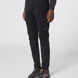 CP COMPANY Pantalone CARGO in cotone in colore NERO