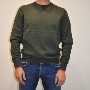 SUN68 – K40105 Paricollo con Bordino colore Verde