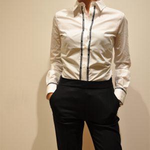 LOVE MOSCHINO – Camicia in cotone con logo colore Bianco