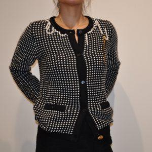 MOSCHINO BOUTIQUE – Maglia rebecca perle colore Nero