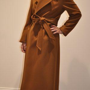 """""""TAGLIATORE"""" – Cappotto doppio petto con cintura Misto cachemire Colore Cammello"""