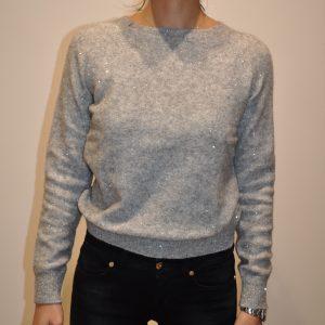 SUN68 – K40214 Paricollo in lana Lurex colore Grigio