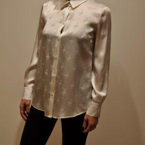 MOSCHINO BOUTIQUE – Camicia stampa Vanity goose colore Latte