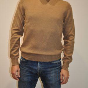 LA FILERIA – Maglia a Collo Alto in lana merinos colore Cammello