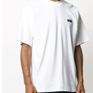 GCDS – T-Shirt m/m basic tee colore Bianco