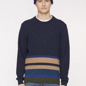 PS PAUL SMITH – Paricollo in lana Blu con bande colorate