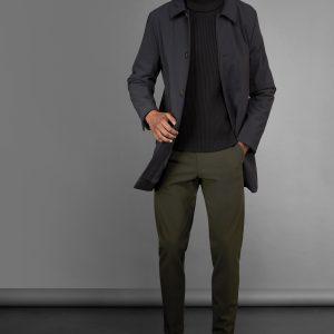 """""""RRD"""" Thermo trench coat in colore Nero"""
