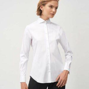 """""""XACUS"""" Camicia in twill di cotone colore Bianco"""