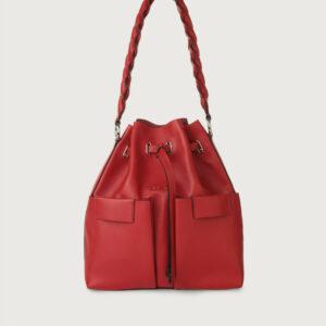 """""""ORCIANI"""" Secchiello TESSA in Pelle Liberty colore Rosso"""