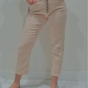 DONDUP – Jeans KOONS bottone gioliello colore Rosa