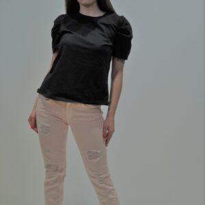"""""""DONDUP"""" Jeans Monroe in bull rosa con strappi"""