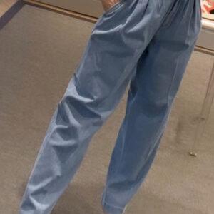 """""""DON THE FULLER"""" Jeans LILLA con doppia pences vita alta in tela denim leggero"""
