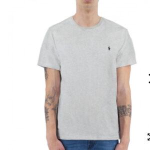 """""""POLO RALPH LAUREN"""" – T-shirt Mezza Manica in cotone colore GRIGIO con ricamo"""