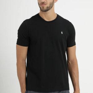 """""""POLO RALPH LAUREN"""" – T-shirt Mezza Manica in cotone colore NERO con ricamo"""