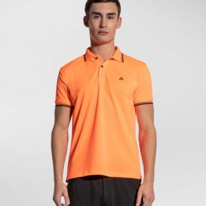 """""""PEUTEREY"""" – Polo in piquet fluo con dettagli grafici colore Arancio"""