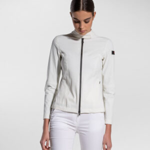 PEUTEREY – Bomber FLIERS 01 in tessuto accoppiato stretch colore Bianco