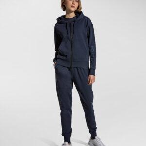 PEUTEREY – Felpa AGAMIA EMB con cappuccio e zip centrale colore Blu