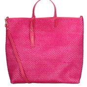 """MY BEST BAGS"" Borsa Shopping in rafia colore FUCSIA"