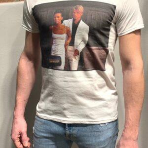 """L'ELITE 55"" T-shirt in cotone con stampa BECKHAM colore Bianco"