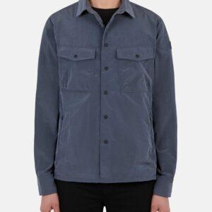 """""""SAVE THE DUCK"""" – Giacca camicia con tasche ELTON in nylon colore Blu"""