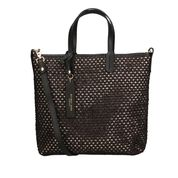 """MY BEST BAGS"" Borsa Shopping in rafia colore Nero"