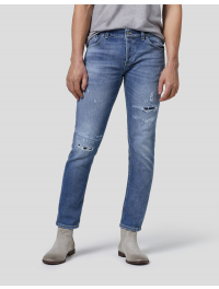"""DONDUP"" Jeans slim MIUS denim stretch strappi"