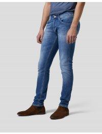 DONDUP – Jeans skinny George denim stretch chiaro
