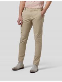 DONDUP – Pantalone slim Gaubert in gabardina di cotone colore SABBIA