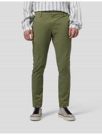 DONDUP – Pantalone slim Gaubert in gabardina di cotone colore VERDE
