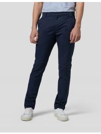DONDUP – Pantalone slim Gaubert in gabardina di cotone colore BLU