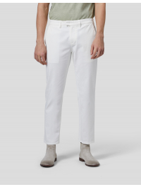 """DONDUP"" – Pantalone slim PABLO in gabardina di cotone colore Bianco"