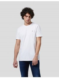 """""""DONDUP"""" – T-shirt in jersey stretch con logo D in metallo colore Bianco"""