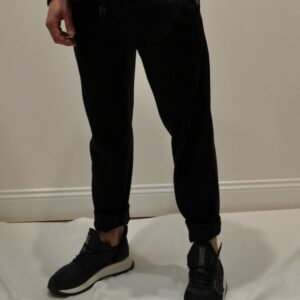 """""""PENCE"""" – Pantalone Jogging in cotone colore Nero"""