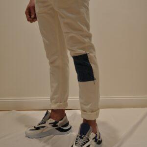 """""""PENCE"""" Jeans """"MALCO"""" in denim Bianco con toppa denim"""