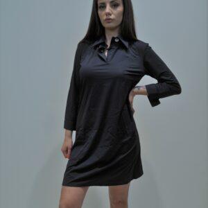 RRD – Abito con collo a camicia in tessuto tecnico colore BLU