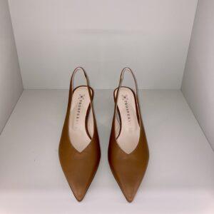 """""""PROSPERINE"""" Sandalo in nappa colore CUOIO"""