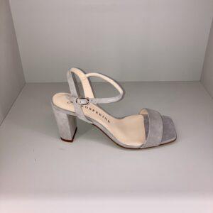 """""""PROSPERINE"""" Sandalo in suede con tacco colore Naturale"""